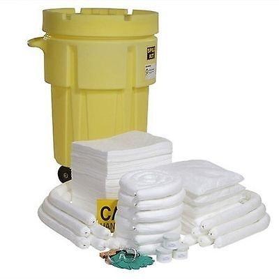 SpillTech SPKO-95-WD 194 Piece Oil-Only 95 gallon Wheeled Spill Kit by SpillTech
