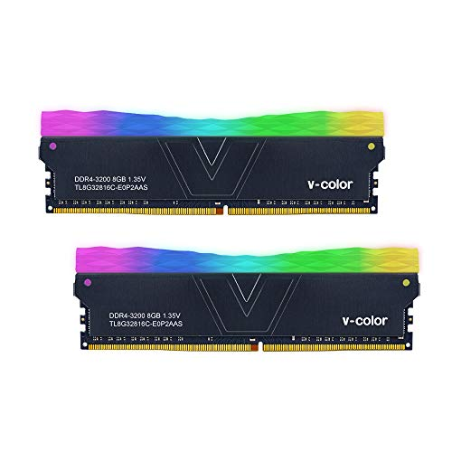 V-Color Prism II RGB (for AMD Ryzen) 16GB (2 x 8GB) DDR4 3200MHz (PC4-25600) Desktop Memory Module Ram (TL8G32816C-E0P2GBOK)