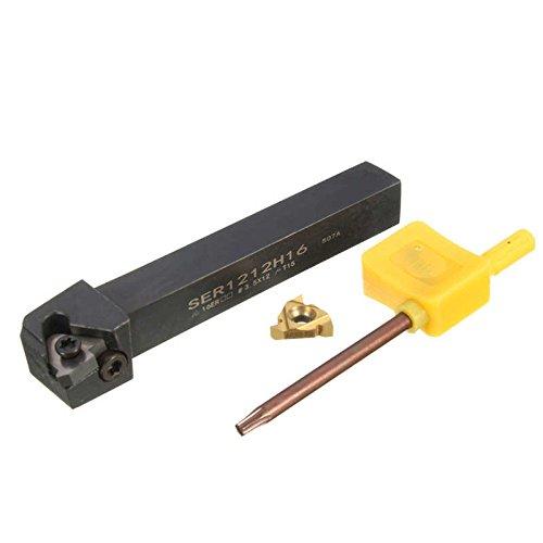 SER1212H16 100mm Lathe Thread Turning Tools CNC Threading Tools Lathe Machine Tool Holder w/16ER Insert T15 Spanner