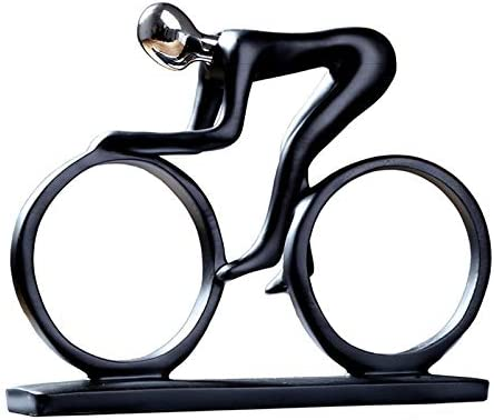 Zgptx Sculpture Home Decor For Statue Ornament Office Art Sculpture Collectibles Bicycle Statue Bike Racer Rider Figurine Office Living Room Decor Amazon Co Uk Kitchen Home