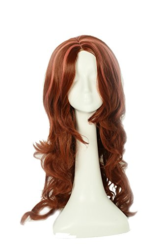Clawdeen Wolf Wig Hair Long Wavy Brown Wig Monster High Cosplay Accessories -