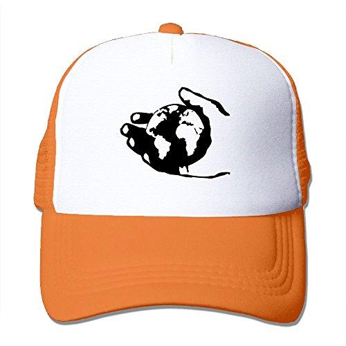DDANG Hand Globe Man Camping Baseball Hat