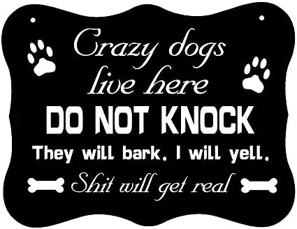 Chihuahua inside Dog No Soliciting Sign Vinyl-Door Do not Knock