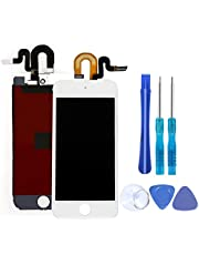 Full Screen Replacement for iPod Touch 5 5th 6 6th LCD Screen The Whole Display Assembly + Repair Tools (iPod Touch 5/6 White)