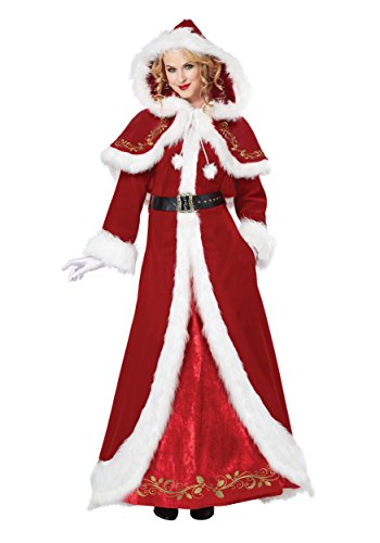 [California Costumes Women's Mrs. Claus Deluxe Adult, Red/White, XX-Large] (Santa And Mrs Claus Costumes)