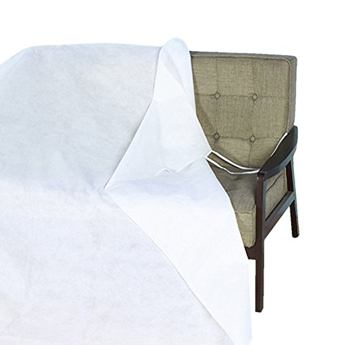 White Dust Cover Furniture Protector Waterproof Cover Shelter Non-woven Material Breathable Mouldproof Cover for Bed Sofa Furniture with Rope can be fixed 79