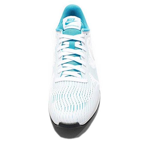 Nike W Internationalist Em - Zapatillas de deporte Mujer Blanco (White / White-Bl Lagoon-Ghst Grn)