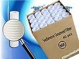 40 pcs Aqua Pure AP110 CFS110 Compatible Water Filter Sediment Grooved NSF