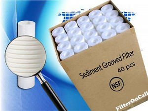 40 pcs Aqua Pure AP110 CFS110 Compatible Water Filter Sediment Grooved NSF by Unknown