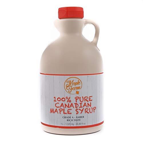 Jarabe de arce Grado A (Amber, Rich taste) - 1 litro (1,35 Kg ...