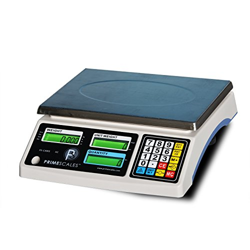 PrimeScales 66lbs / 0.002lb Counting Scale with 4 Weighing Units Large Platform