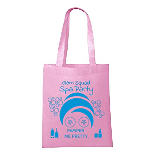Spa Party Supplies for Girls Sleepover Birthday Pink Tote Bag Favors Set of 6 ()