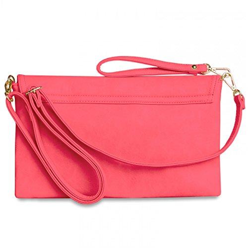 CASPAR Fashion - Cartera de mano para mujer Rojo - rojo (Koralle)