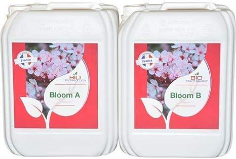 Bio Technology® | Fertilizante de Floración de Calidad | Fertilizante de Floración Universal | Gran Rendimiento y Aroma Bloom A + B - 10 L