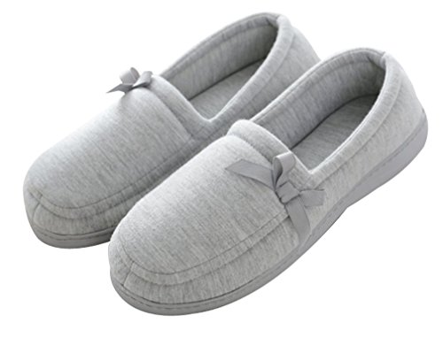 Cattior Womens Cotton House Indoor Slippers Ladies Slipper Shoes Gray mMV376jOTF