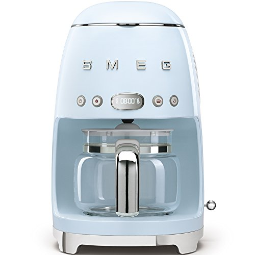 SMEG 1950's Retro Style Coffee Maker Machine (Pastel Blue)