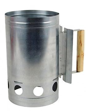 Encendedor de Carbón de parrilla galvanizado Encendedor Estufa encendido grillanzünderhilfe NUEVO: Amazon.es: Jardín