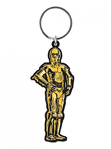 Star Wars - Rubber Keychain / Keyring (C3PO) (Size: 1.5