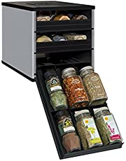 YouCopia Original SpiceStack, Bottle Spice Organizer with Universal Drawers