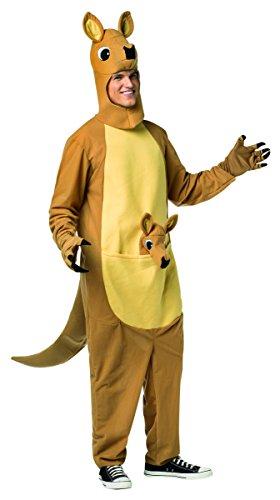 Rasta Costumes For Men (Rasta Imposta Men's Kangaroo, Brown, L/XL)