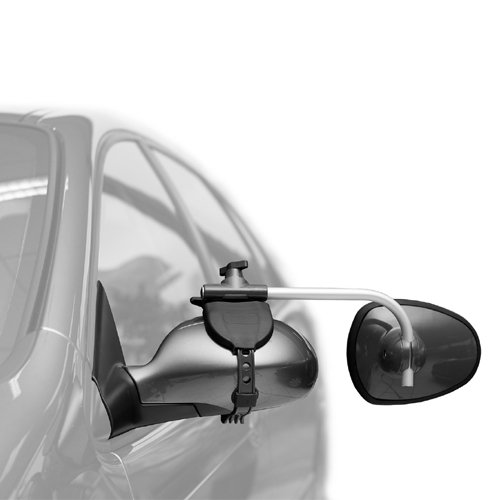 REPUSEL universal towing mirrors - Luxmax, convex ANTI GLARE blue tinted glass, and EXTRA long arm (per pair) by REPUSEL (Image #1)