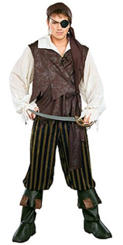 Rubie's Costume Pirates of the Seven Seas Caribbean Pirate - Adult Standard (Pirates Of The Caribbean Adult Costumes)