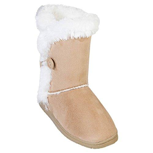 [DAWGS Women's 9 Inch 3 Button Microfiber Winter Boot, Natural, 11 M US] (Microfiber Boots)