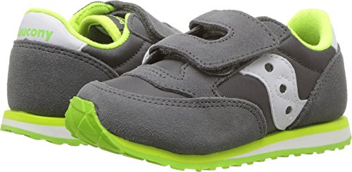 Saucony Boys' Baby Jazz HL Sneaker, Grey/White, 12 Medium US Little Kid