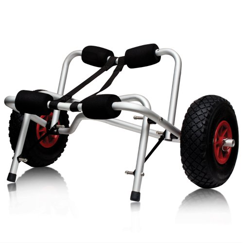 Boat Kayak Canoe Carrier Dolly Trailer Tote Trolley Transport Cart Wheel New, Outdoor Stuffs