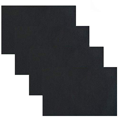 Adhesive Back Leather Repair Patch for Car Seat Couch Jackets Handbags 4x8 Inches, Pack of 4 ?Black?