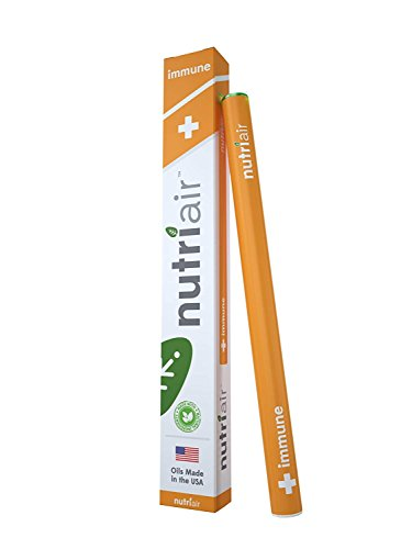 Nutriair Immune Inhaler - Nutritional Aromatherapy Pen- Daily Support for Healthy Immune System - Strengthen Overall Health and Well-Being - Great Tasting Immune Booster with Vitamin C (1 Pack) (Aroma Ace Diffuser Best Price)