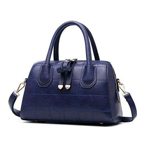 VINICIO Women's Mature Premium Leather Double Zipper Elegant Ornaments High-capacity Handbag - Outlet Premium Carolina Stores