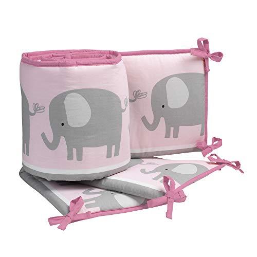(Bedtime Originals Eloise 4-Piece Crib Bumper, Pink)