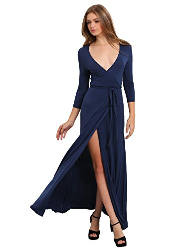 Blue Wrap Dresses: Amazon.com