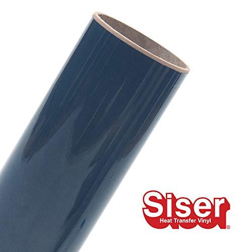 Siser EasyWeed HTV 11.8 x 10ft Roll - Iron on Heat Transfer Vinyl (Navy Blue)