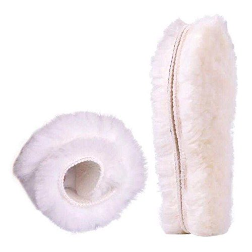 (Wool Insoles Genuine Sheepskin Insoles Men's & Women's Thick Wool Fur Fleece (10(US standard)))