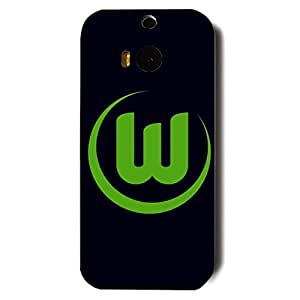 Famous Design FC Wolfsburg Football Club Logo Phone Case Cover For Htc One M8 3D Plastic Phone Case