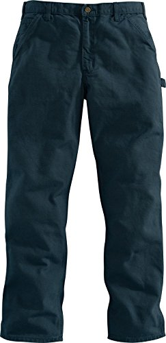 Carhartt Men's Washed Duck Work Dungaree Utility Pant B11 (Midnight 01, 32) by Carhartt