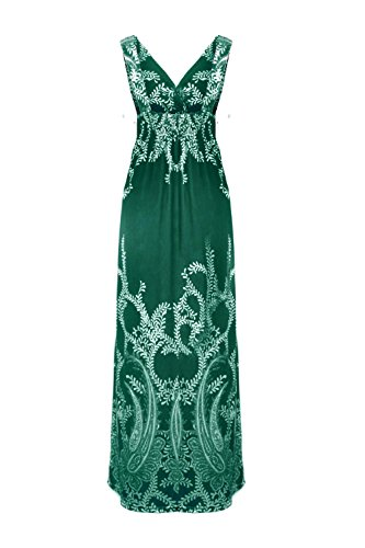 Jon Paradise Patterned Holiday Floral Dress Green a7 Women's Printed amp; Anna Casual OqAnwrUO
