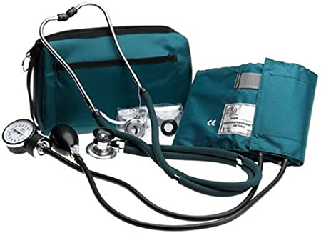 Prestige Medical A2-HUN - Set de tensiómetro y estetoscopio tipo Sprague, color verde oscuro