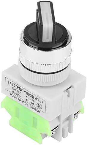 1NC LAY37-20X//31 Interruptor de Conmutaci/ón Mantenido de 3 Posiciones 2NO Interruptor Giratorio de Bloqueo Autom/ático 220V 5A