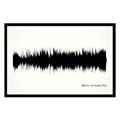 Paper Shaper Pop (Softly, as I Leave You - 11x17 Framed Soundwave print)