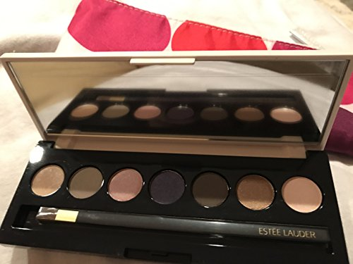 Estee Lauder 7 Pure Color ESTEE LAUDER Pure Color 7 Eyeshadow Palette with Brush Compact and Cosmetic Bag Limited Edition 2016
