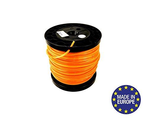 Bobine de fil professionnel pour débroussailleuse Carré 4mm x 66 mètres