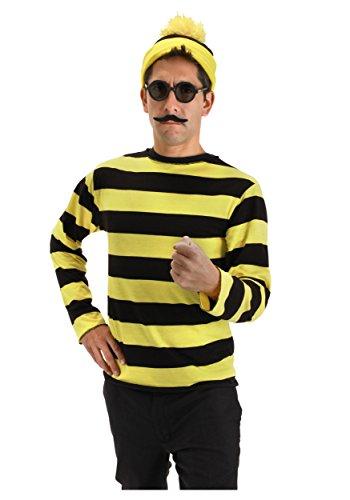 Men's Where's Waldo Odlaw Costume Small/Medium (Happy Halloween Waldo)