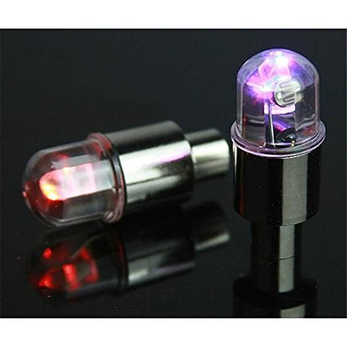 2Pcs New Fangled Bike Motorcycle Car Wheel Tire Tyre Valve Caps LED Light Lamp