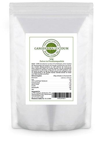 PsoriasisEX - Ganoderma lucidum (Reishi / Ling-Zhi) - 50 GR Pulver im Aromaschutzbeutel - Vitalpilz