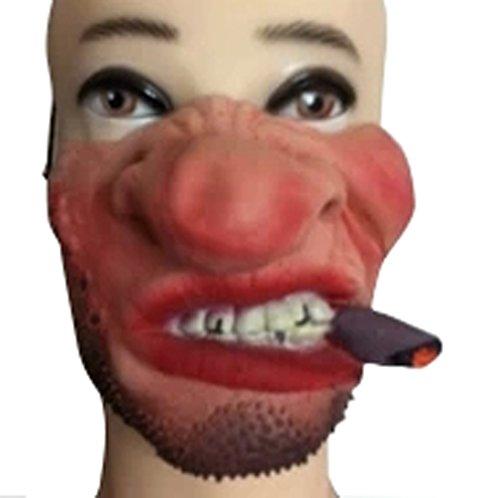 New Sale Halloween Funny Spoof Performance Of Latex Half Face Masks-Beard Face - Terrorist Costume For Sale