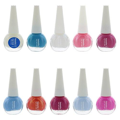 Tweets Finger Nail Polish Color Lacquer Collection Set (10 Piece Set 1)