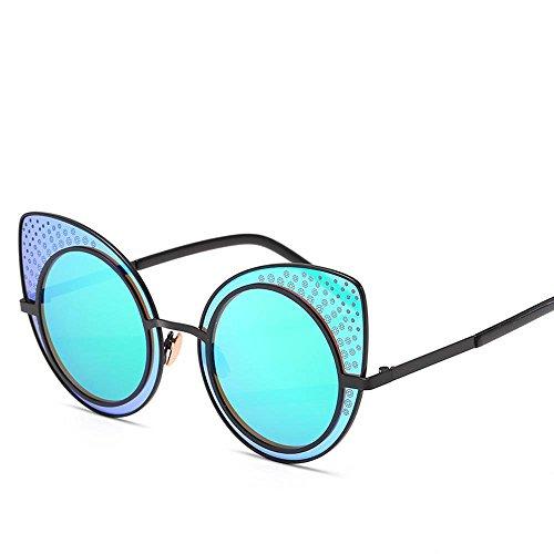 Aoligei Ladies tendance lunettes de soleil européenne et américaine réflectorisé lunettes de soleil rétro couleur lumineux 2AFEijKX